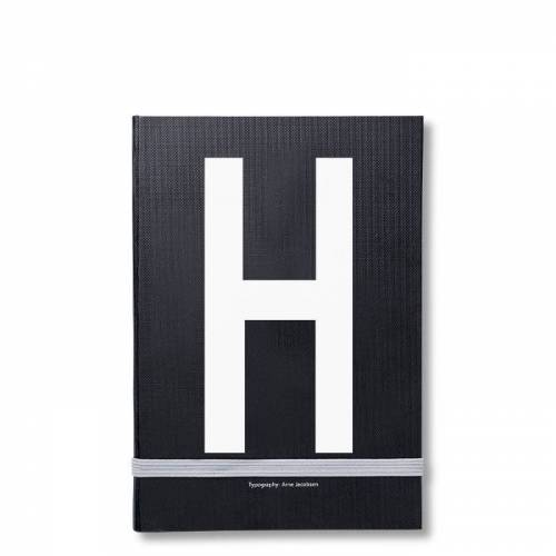 Personal Notizbuch H  Design Letters