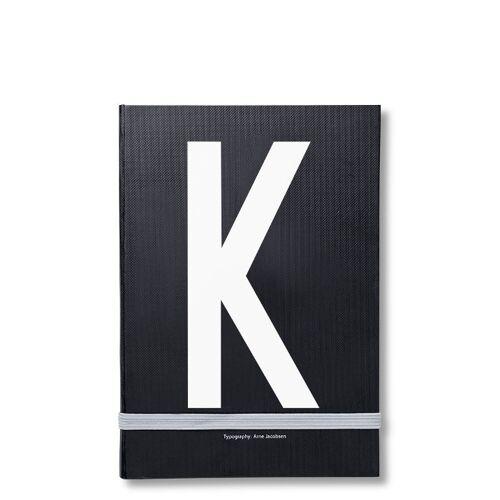 Personal Notizbuch K  Design Letters