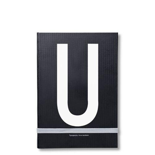 Personal Notizbuch U  Design Letters