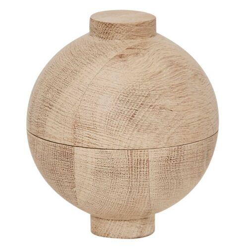 Wooden Sphere Aufbewahrungsdose Natur groß  Kristina Dam