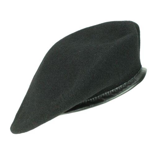 Kangol Monty Beret Baskenmütze aus Wolle, Schwarz (BK001) 60-61 cm (XL)