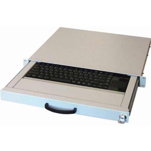 19 Zoll-Tec 19 Zoll US-Tastaturschublade  mit Touchpad 1HE