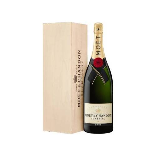 MOET & CHANDON  CHAMPAGNE MOET & CHANDON CHAMPAGNER - BRUT IMPÉRIAL - JEROBOAM 3L IN HOLZKISTE