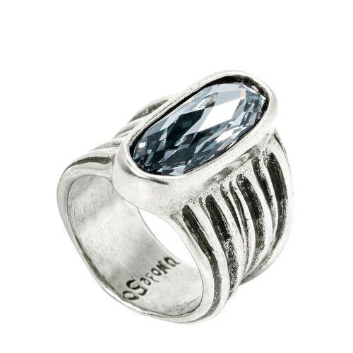 Mey & Edlich Damen Swarovski-Ring weiß 12, 15, 18