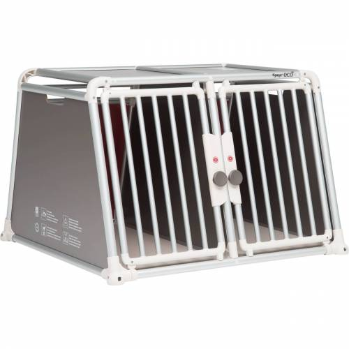 4pets Alu Autobox für 2 Hunde ECO 22, H66,0 x B96,5 x T93,5 cm