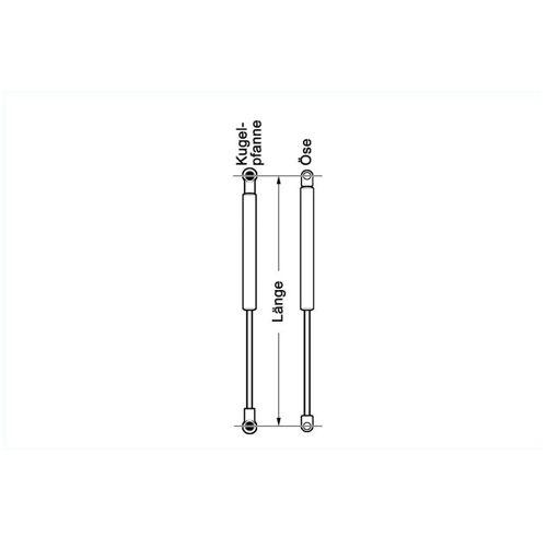 Kamei Gasdruckfeder Universal 307mm   Kamei
