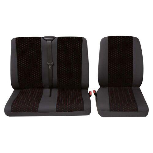 Petex Sitzbezug Einzelsitz/Doppelsitz 2.-tlg Rot   Petex