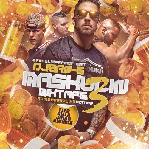Fler Präsentiert - Maskulin Mixtape Vol.3 Audio Anabolika Edition (Limited Premium Fan Edition inkl. Bonus CD + T-Shirt Gr. L / exklusiv bei Amazon.de) - Preis vom 23.02.2021 06:05:19 h