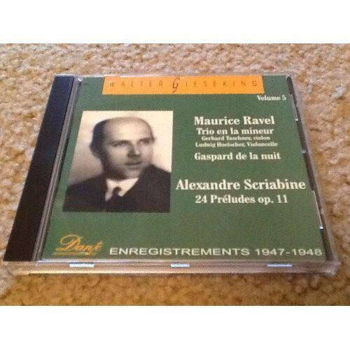 Walter Gieseking - Gieseking Vol. 5 Ravel / Scri - Preis vom 14.06.2021 04:47:09 h