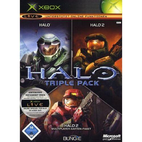Microsoft - Halo Triple Pack (Halo / Halo 2 / Halo 2 Multiplayer Karten-Paket) - Preis vom 03.09.2020 04:54:11 h