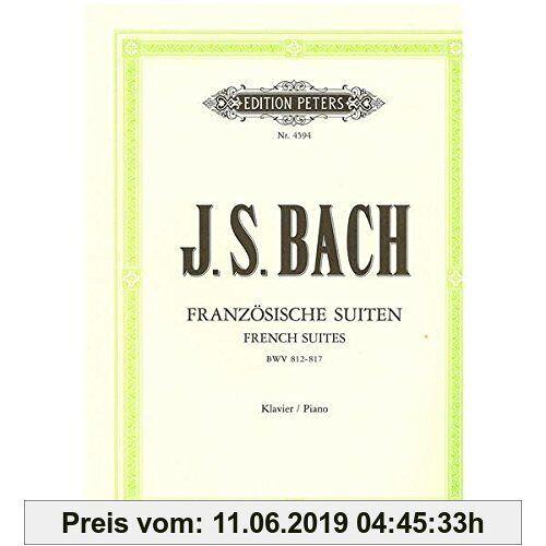 Franzoesische Suiten Bwv 812-817. Klavier