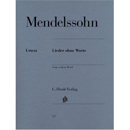 Felix Mendelssohn Bartholdy - Lieder ohne Worte. Klavier - Preis vom 17.04.2021 04:51:59 h