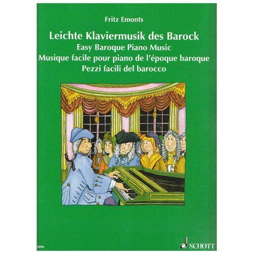 Fritz Emonts - Leichte Klaviermusik des Barock: Klavier. - Preis vom 19.10.2020 04:51:53 h