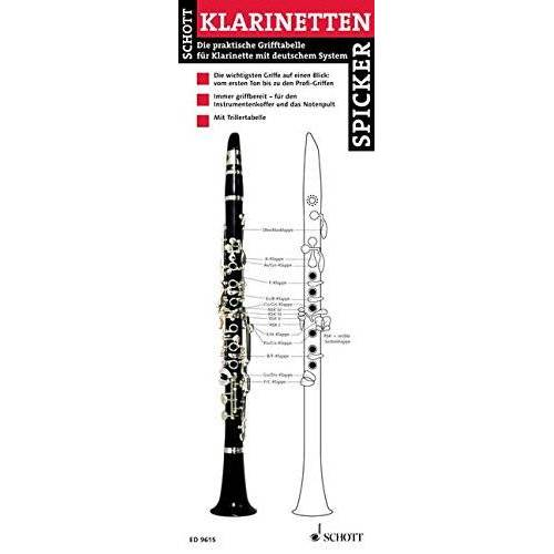 Klarinette - Klarinetten-Spicker: Die praktische Grifftabelle für Klarinette mit deutschem System. Klarinette. - Preis vom 26.02.2021 06:01:53 h