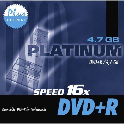 Platinum - Platinum DVD+R, 4.7GB, 16x, 1er Jewel Case - Preis vom 10.10.2021 04:54:13 h