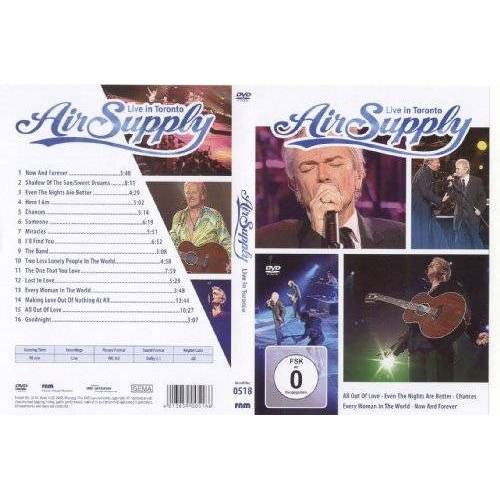 Live in Toronto - Air Supply - Live in Toronto - Preis vom 20.10.2020 04:55:35 h
