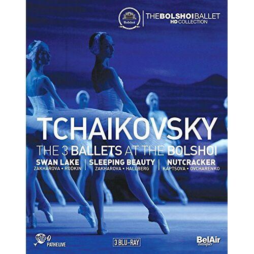 Tschaikowsky, Peter Iljitsch - Tschaikowsky: The 3 Ballets at the Bolshoi [3 Blu-rays] - Preis vom 04.10.2020 04:46:22 h