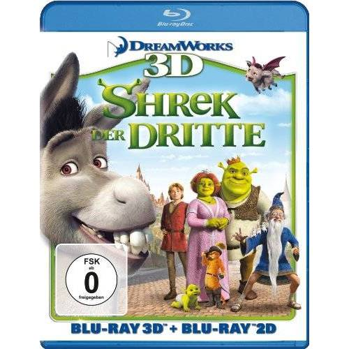 Chris Miller - Shrek 3 - Shrek der Dritte (+ Blu-ray 3D) [Blu-ray] - Preis vom 13.05.2021 04:51:36 h