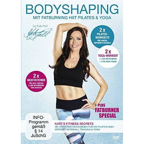 Kate Hall - Bodyshaping - Mit Fatburning HIIT Pilates & Yoga - Preis vom 21.01.2020 05:59:58 h