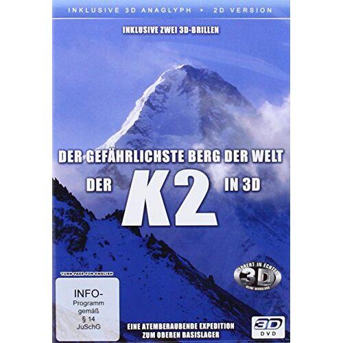 Various - K2 in 3D - Der gefährlichste Berg der Welt ( 2D und 3D anaglyph - inkl. 2 Brillen) - Preis vom 27.02.2021 06:04:24 h