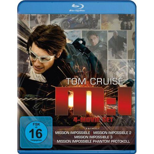 Tom Cruise - Mission: Impossible - M:I 4-Movie Set (Mission: Impossible / Mission: Impossible 2 / Mission: Impossible 3 / Mission: Impossible - Phantom Protokoll) [Blu-ray] - Preis vom 19.01.2021 06:03:31 h