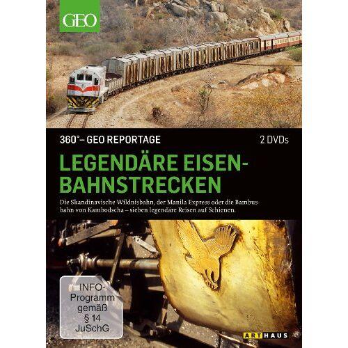 - 360 Grad - GEO Reportage: Legendäre Eisenbahnstrecken [2 DVDs] - Preis vom 03.05.2021 04:57:00 h
