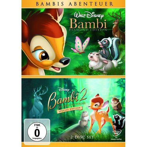 David D. Hand - Bambi / Bambi 2: Der Herr der Wälder (2 DVDs) - Preis vom 13.04.2021 04:49:48 h