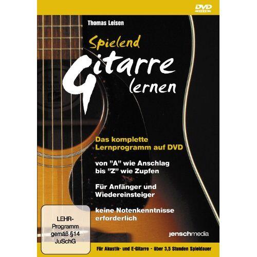 Jürgen Jensch - Spielend Gitarre Lernen - Gitarrenschule auf DVD - Die einfachste Art, Gitarre Spielen zu lernen - Preis vom 26.01.2021 06:11:22 h