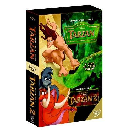 - Tarzan / Tarzan 2 (3 DVDs) - Preis vom 15.04.2021 04:51:42 h