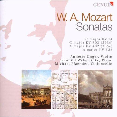 Unger - Mozart: Violinsonaten KV 14/303/402/526 - Preis vom 28.02.2021 06:03:40 h