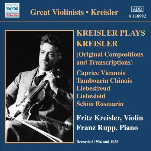Fritz Kreisler - Kreisler Spielt Kreisler - Preis vom 20.10.2020 04:55:35 h