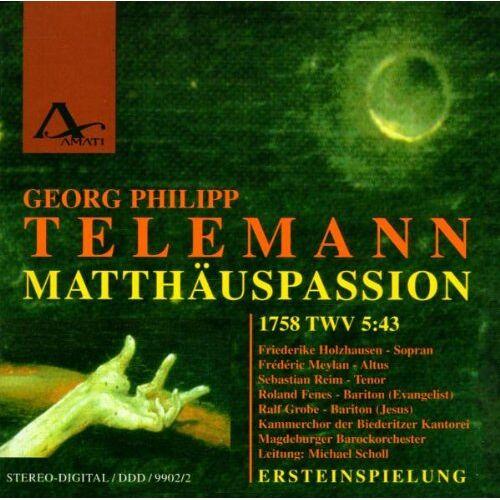 Holzhausen - Matthäus-Passion (1758) Twv 5: - Preis vom 08.07.2020 05:00:14 h