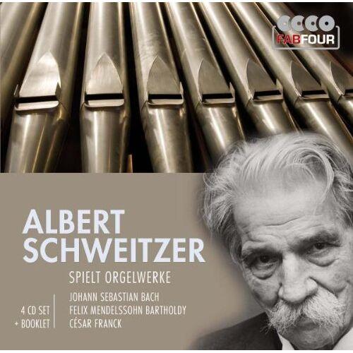 Albert Schweitzer - Albert Schweitzer spielt Orgelwerke (4 CD) - Preis vom 16.05.2021 04:43:40 h