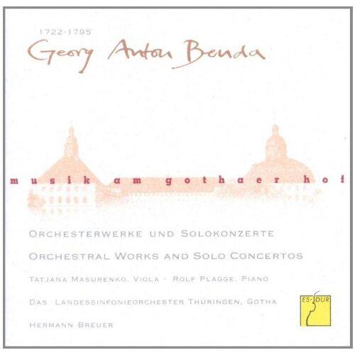 Masurenko - Musik am Gothaer Hof - Georg Anton Benda (Orchesterwerke und Solokonzerte) - Preis vom 14.05.2021 04:51:20 h