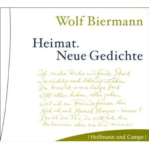 Wolf Biermann - Heimat. CD: Neue Gedichte - Preis vom 06.05.2021 04:54:26 h