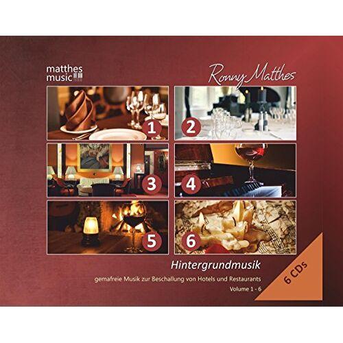 Ronny Matthes - Hintergrundmusik: Vol. 1-6 (6 CD-Box) - Gemafreie Musik zur Beschallung von Hotels und Restaurants (inkl. Klaviermusik zum Entspannen und Träumen) - Preis vom 23.01.2021 06:00:26 h