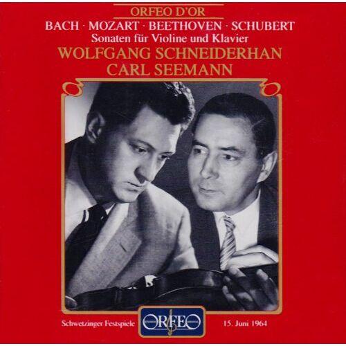 Wolfgang Schneiderhan - Violinsonaten BWV 1016/KV 454/op.12,3/D 574 - Preis vom 07.03.2021 06:00:26 h