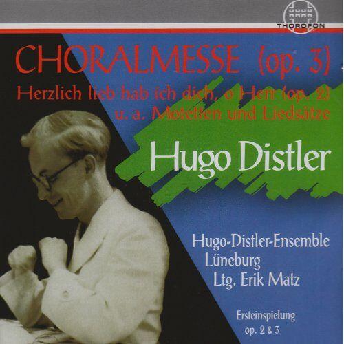 Hugo-Distler-Ensemble Lüneburg - Hugo Distler Chorwerke - Preis vom 09.05.2021 04:52:39 h
