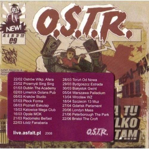 O.S.T.R. - Ja Tu Tylko Spzatam - Preis vom 05.05.2021 04:54:13 h