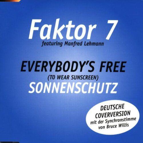 Faktor 7 - Everybody's Free (To Wear Sunscreen) - Sonnenschutz - Preis vom 18.10.2020 04:52:00 h