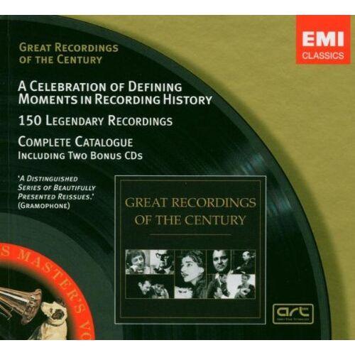 Various - Great Recordings Of The Century - Katalog-Sampler (2 CDs+Katalog) - Preis vom 18.10.2019 05:04:48 h