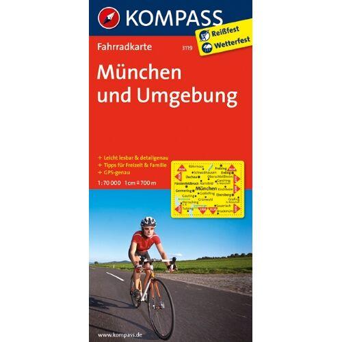 - München und Umgebung: Fahrradkarte. GPS-genau. 1:70000 - Preis vom 25.05.2020 05:02:06 h