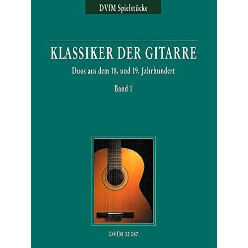 Ursula Peter (Hrsg.) - Klassiker der Gitarre. Duos Band 1 (DV 32087) - Preis vom 18.06.2021 04:47:54 h