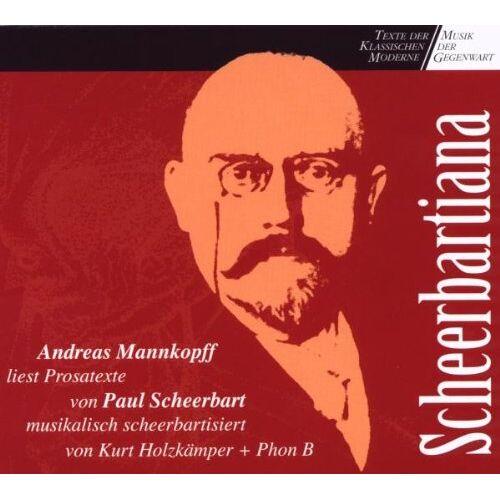 Paul Scheerbart - Scheerbartiana, 1 Audio-CD - Preis vom 15.06.2021 04:47:52 h