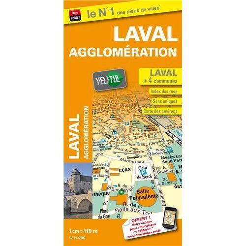 Blay-Foldex - Plan de ville de Laval et de son agglomération - Echelle : 1/11 000 - Avec localisation des stations VeliTul - Preis vom 22.06.2021 04:48:15 h