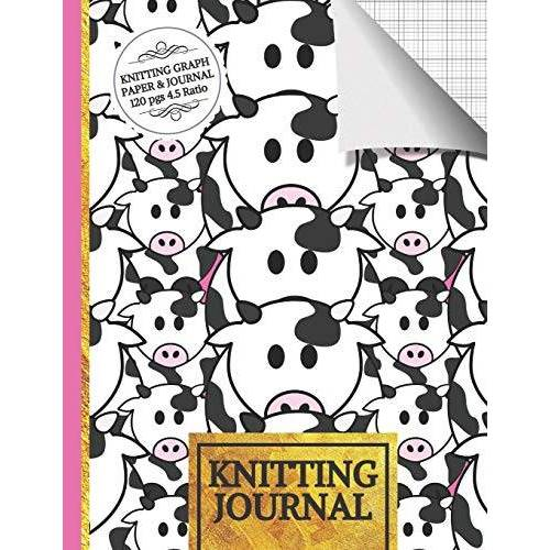Woolly Publishers - Knitting Journal: Cute Cow Knitting Journal to Write in, Half Lined Paper, Half Graph Paper (4:5 Ratio) Knitting Gifts for Women - Preis vom 17.06.2021 04:48:08 h