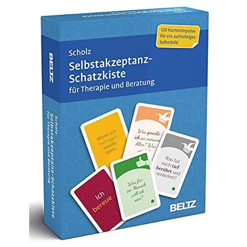 Scholz, Falk Peter - Selbstakzeptanz-Schatzkiste für Therapie und Beratung: 120 Karten mit 20-seitigem Booklet in stabiler Box, Kartenformat 5,9 x 9,2 cm (Beltz Therapiekarten) - Preis vom 11.10.2021 04:51:43 h
