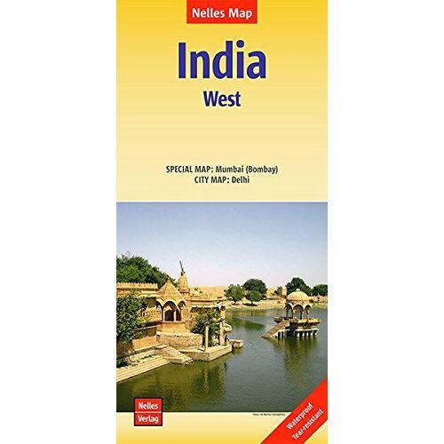 Nelles Verlag - Nelles Map Landkarte India: West: 1:1,5 Mio   reiß- und wasserfest; waterproof and tear-resistant; indéchirable et imperméable; irrompible & impermeable - Preis vom 17.05.2021 04:44:08 h