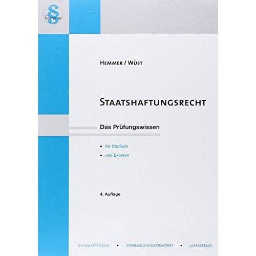 Hemmer Karl-Edmun - Staatshaftungsrecht - Preis vom 14.06.2021 04:47:09 h