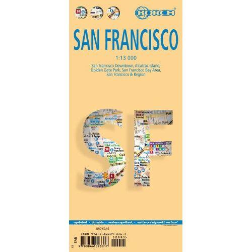 - San Francisco 1 : 13 000: San Francisco Downtown, Alcatraz Island, Golden Gate Park, San Francisco Bay Area, San Francisco & Region - Preis vom 15.06.2021 04:47:52 h
